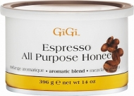 GiGi Espresso All Purpose Honeу - Натуральный медовый воск(многоцелевой) с экстрактом кофе 396гр. #50303