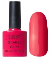 Shellac Bluesky #80505 Tropix 10 мл Коралловый матовый плотный
